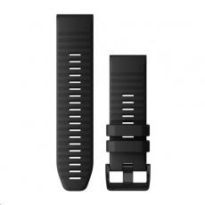 Garmin řemínek pro fenix6X - QuickFit 26, silikonový, černý, černá přezka