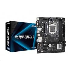 ASRock MB Sc LGA1200 H470M-HDV/M.2, Intel H470, 2xDDR4, 1xHDMI, 1xDVI, 1xVGA, mATX