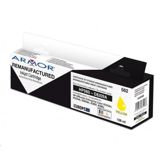 ARMOR cartridge pro HP OJ X585 No.980 yellow, 106ml, komp.s D8J09A