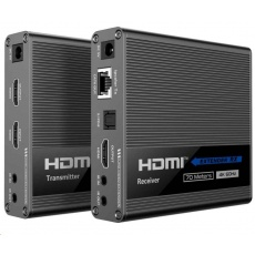 PremiumCord HDMI 2.0 extender Ultra HD 4kx2k@60Hz na 70m zapojení do kaskády