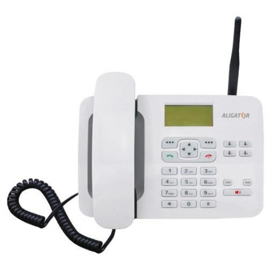 Aligator GSM stolní telefon T100, bílá
