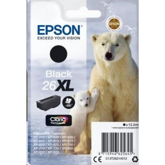 "EPSON ink čer Singlepack ""Lední medvěd"" Black 26XL Claria Premium Ink"