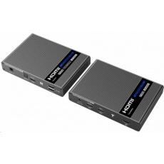 PremiumCord HDMI 2.0 KVM extender Ultra HD 4kx2k@60Hz na 70m s přenosem USB