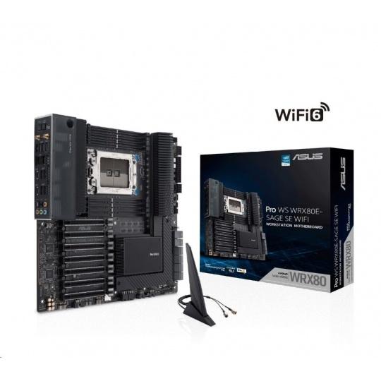 ASUS MB Sc sWRX8 PRO WS WRX80E-SAGE SE WIFI, AMD WRX80, 8xDDR4, WI-FI, E-ATX