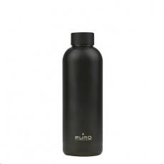 Puro Hot&Cold láhev z nerezové oceli, double wall, 500ml metalická černá