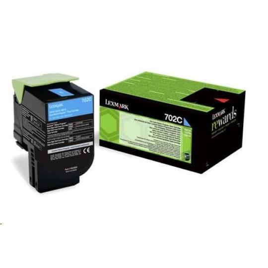 LEXMARK Cyan toner 702M pro CS310/410/510 z programu Lexmark Return (1 000 stran)