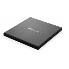 VERBATIM externí mechanika DVD-RW Rewriter USB-C, černá