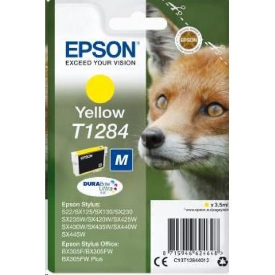 "EPSON ink bar Singlepack ""Liška"" Yellow T1284 DURABrite Ultra Ink (3,5 ml)"