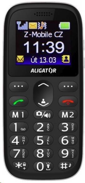 Aligator A510 Senior, černá + nabíjecí stojánek