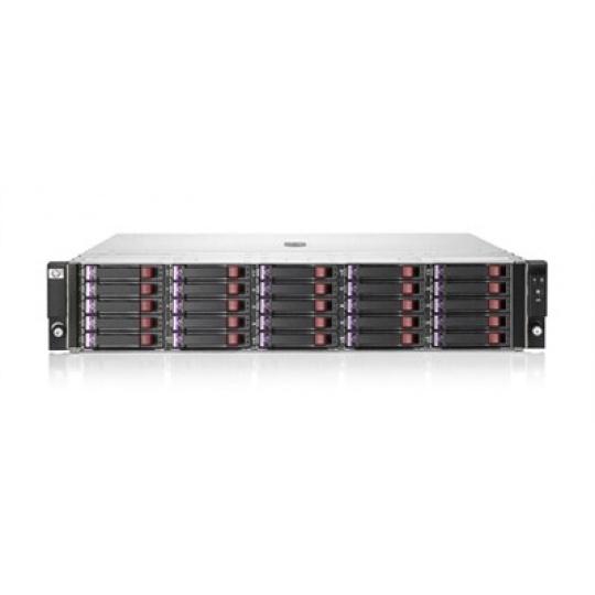 "HP StorageWorks D2700 SFF Disk Enclosure (25x2.5"",2x0.5m mSAS/mSAS, SC/DC/LFF/SFF) HP RENEW"