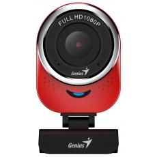 GENIUS webkamera QCam 6000/ červená/ Full HD 1080P/ USB2.0/ mikrofon