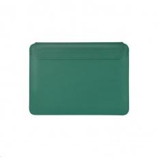 COTEetCI PU tenké pouzdro s magnetickým zapínáním pro Apple Macbook Pro  & Air 13 zelená