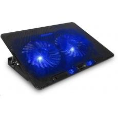 CONNECT IT chladicí podložka pod notebook FrostBreeze, černá