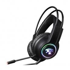 OMEGA herní sluchátka VARR Gaming RGB Headset, USB, 2x3.5 mic, black/černá