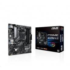 ASUS MB Sc AM4 PRIME A520M-A II, AMD A520, 4xDDR4, 1xDP, 1xHDMI, VGA, mATX