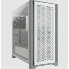 CORSAIR case 4000D AIRFLOW, Mid-Tower, ATX Case, průhledná bočnice, bez zdroje, bílá