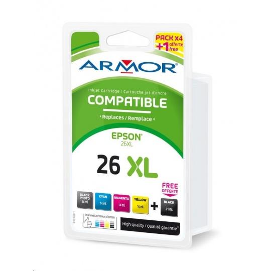ARMOR cartridge pro EPSON XP510/520 sada CMYK+Ph.BK, kom.s T263x