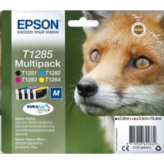 "EPSON ink Multipack ""Liška"" 4-colours T1285 DURABrite Ultra Ink"
