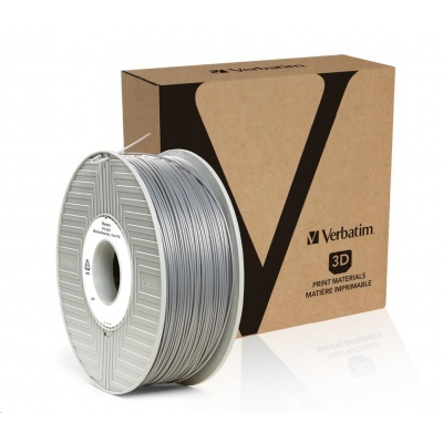 VERBATIM 3D Printer Filament ABS 1,75mm 1kg silver/metal grey