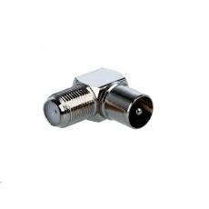 Konektor F Spojka zdířka - IEC konektor úhlový, pro koaxiální kabel, 10ks