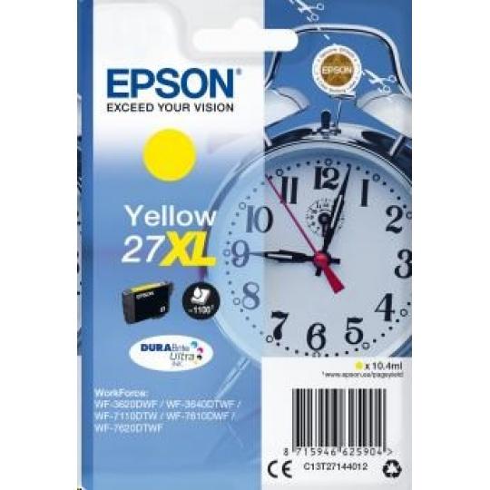 "EPSON ink bar Singlepack ""Budík"" Yellow 27XL DURABrite Ultra Ink"
