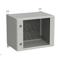 Solarix rozvaděč nástěnný venkovní LC-20 9U 600x600mm, dveře sklo, LC-20-9U-66-11-G
