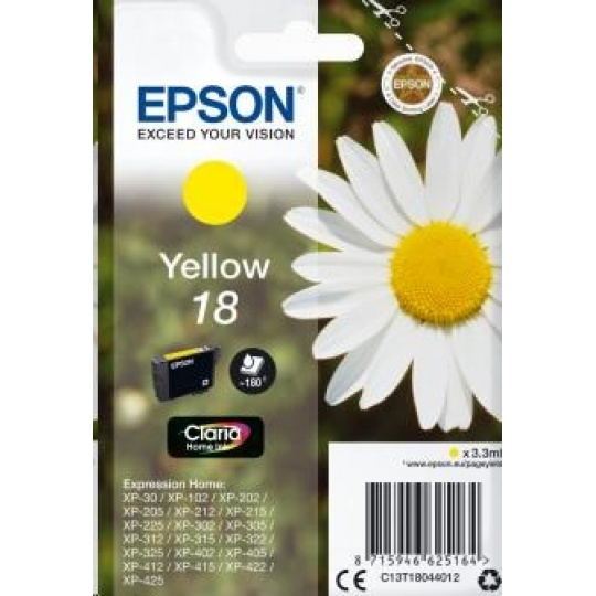 "EPSON ink bar Singlepack ""Sedmikráska"" Yellow 18 Claria Home Ink"