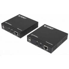 Manhattan prodlužovací sada, 4K HDMI over Ethernet Extender Kit, černá