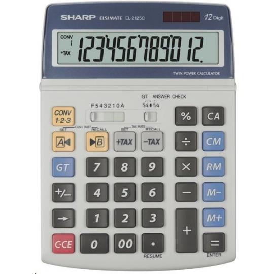 SHARP kalkulačka - EL2125C - gift box