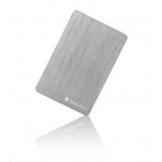 "VERBATIM HDD 2.5"" 2TB Store 'n' Go ALU Slim Portable Hard Drive USB 3.2, Silver"