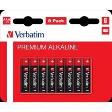 VERBATIM Alkalické baterie AAA, 8 PACK , LR03