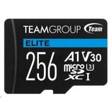 TEAM MicroSDXC karta 256GB ELITE A1 V30 UHS-I U3 + SD adapter