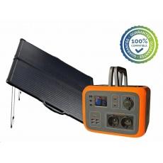 Viking bateriový generátor AC600, 600W, oranžová + solární panel LVP120