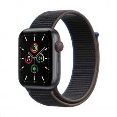 Apple Watch SE GPS + Cellular, 44mm Space Gray Alum. Case + Charcoal Sport Loop