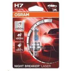 OSRAM autožárovka H7 NIGHT BREAKER® LASER 12V 55W PX26d (Blistr 1ks)