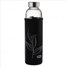 Xavax skleněná lahev na nápoje, 500 ml, se sítkem a neoprenovým obalem
