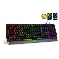 CONNECT IT herní klávesnice BATTLE RGB, CZ+SK, černá