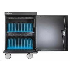 Manhattan nabíjecí vozík, UVC Charging Cart, 32 USB-A portů, 32 AC zásuvek, černá