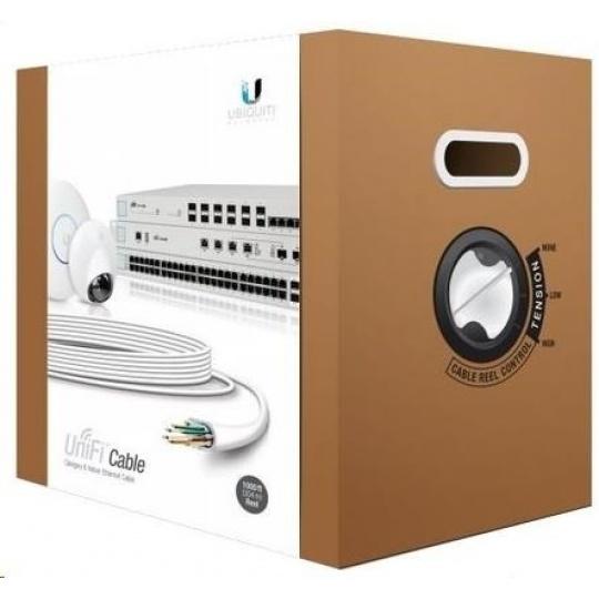 UBNT UniFi Cable [CAT6, drát, certifikace CRM, 23AWG, 305m]