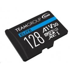 TEAM MicroSDXC karta 128GB ELITE A1 V30 UHS-I U3 + SD adapter