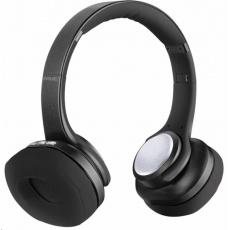 EVOLVEO bezdrátová sluchátka SupremeSound 8EQ, Bluetooth, reproduktor a ekvalizér 2v1, černá