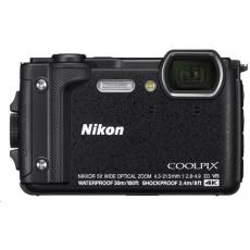 NIKON kompakt Coolpix W300, 16MPix, 5x zoom - černý + 2v1 plovoucí popruh