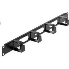 "Intellinet organizér kabelů do 19"" racku - 4 háčky, černý, dlouhé úchyty"