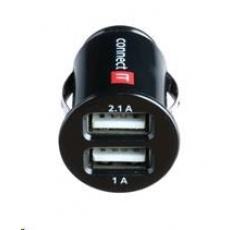 CONNECT IT USB micro nabíječka do auta 2x USB, černá (5V/2,1A + 5V/1A)